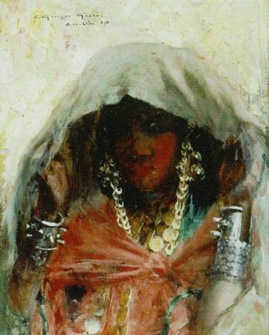 jeune fille de bou saâda by georges gasté