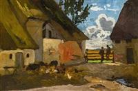 hühner im hof by richard von poschinger