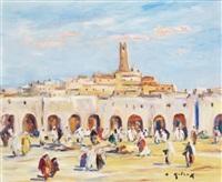 place du marché à ghardaïa by bruno retaux
