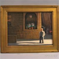 man on a paris street by steven allrich