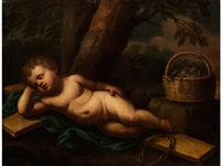 das auf dem kreuz schlafende jesuskind by battista