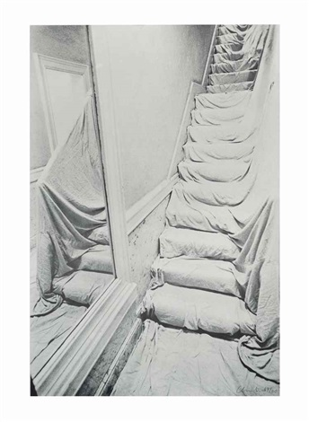 wrapped staircase by christo and jeanne claude