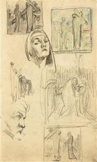 zeichnungen (7 works, various media, some lrgr) by frantisek bilek