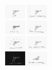 gun drawings by robin rhode