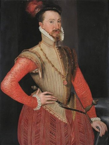 portrait of robert dudley earl of leicester by steven van der meulen