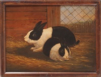 rabbits (pair) by a.j. simpson