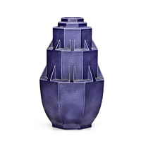 stepped, architectural vase by mougin frères