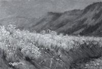 flowering hillside by frank hector tompkins