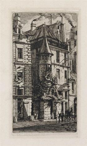 tourelle de la rue de la tixéranderie by charles meryon