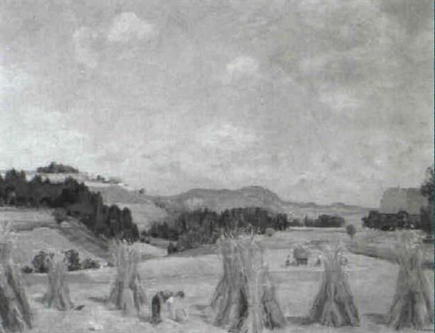 sommerlandschaft bei riedbach by hans arnold daepp