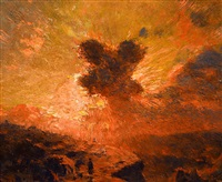 sunset - return of the shepherd by william robinson leigh