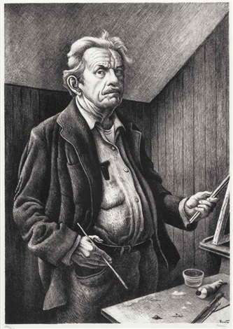 self portrait by thomas hart benton