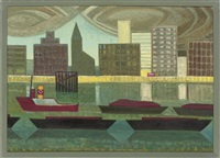 the embankment (+ canal and warehouses; 2 works) by anne e. christopherson