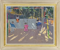 playground swings, crete by andrew macara