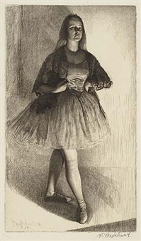 the dancer by gerald leslie brockhurst