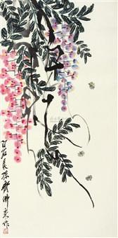 紫藤蜜蜂 (wisteria) by qi folai