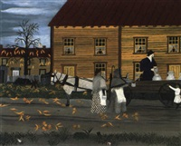 the milkman of goshen by horace pippin