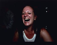 self-portrait laughing, paris by nan goldin