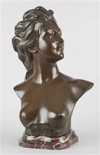 buste de jeune femme dénudée by jef lambeaux