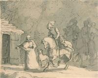 reiterzug vor der hütte eines eremiten by carl philipp fohr