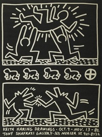 keith haring drawings at shafrazi gallery by keith haring