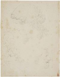 due profili femminili e due profili maschili by raffaello albertolli