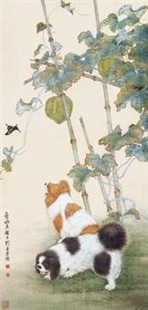 瓜藤双犬 by liu kuiling