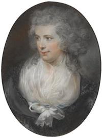 portrait of charles elliott (+ a portrait of his wife eling venn, lrgr; 2 works) by john russell