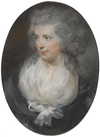 portrait of charles elliott a portrait of his wife eling venn lrgr 2 works by john russell