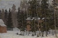 winter landscape by petr ivanovich petrovichev