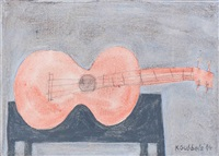 guitar on canvas by klaas gubbels
