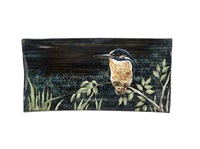 kingfisher large rectangular extruded platter (designed by dorell pirie) by highland stoneware (co.)