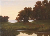 river landscape by louis michel eilshemius