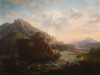 expansive landscape with river rescue by claude lorrain