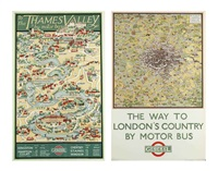 to the thames valley & the way to london's country (2 works) by thomas derrick & katherine ritchie