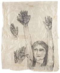 untitled - hands waving by kiki smith