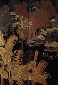 landscape (diptych) by le quoc loc