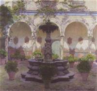 a courtyard in ecija by alfonso grosso y sánchez
