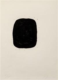 concetto spaziale (noir avec trous exterieurs) by lucio fontana