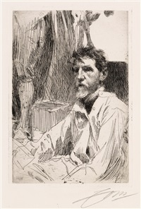 august saint gaudens, i by anders zorn