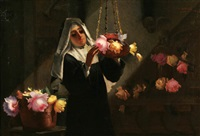 arranging flowers by g. coronelli