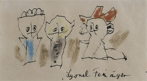 three ghosties by lyonel feininger