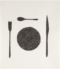 untitled (table manners) by matthew brannon