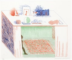 in a chiaroscuro (from the blue guitar) by david hockney