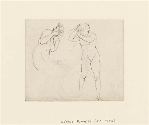 studies of female nudes by george frederick watts