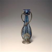 vase mit zinnmontierung by hans peter