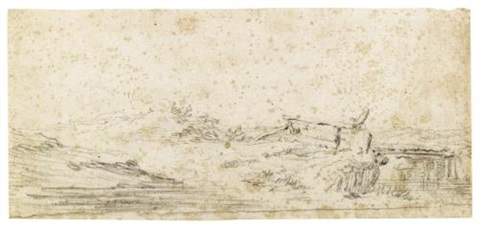 dune landscape with a bridge by jan josefsz van goyen