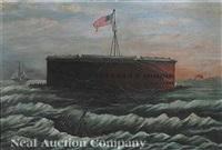 fort sumter, charleston harbor, south carolina by american school-southern (19)