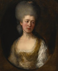 portrait of lady catherine ponsonby, duchess of st. albans by thomas gainsborough