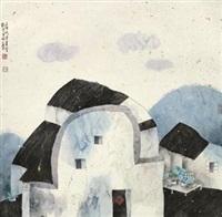 乡居图 (landscape) by lin rongsheng